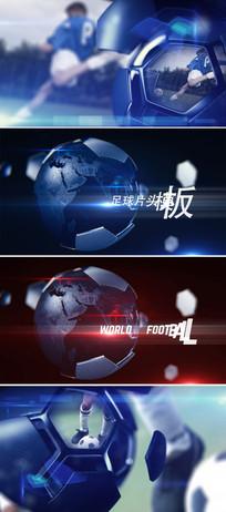三维足球地球体育新闻开场片头模板
