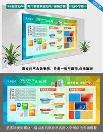 炫彩简约时尚大气公司企业文化宣传栏