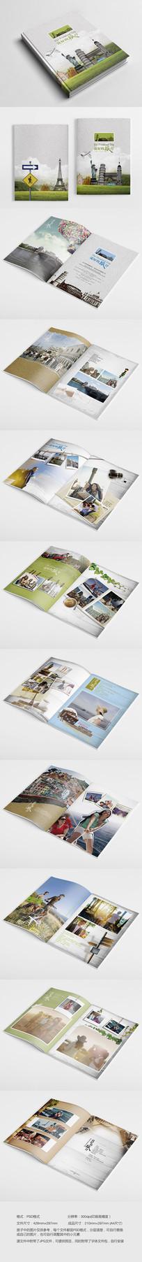 旅行旅游照片画册设计模板