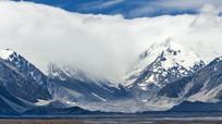 星空冰川高山湖泊平原壮丽美景延时2K实拍视频