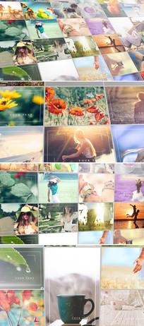 ae多图片展示照片墙模板