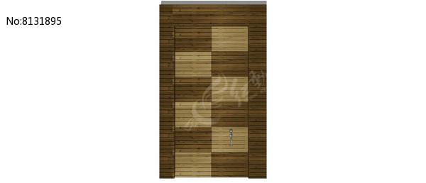 间隔木条门模型图片