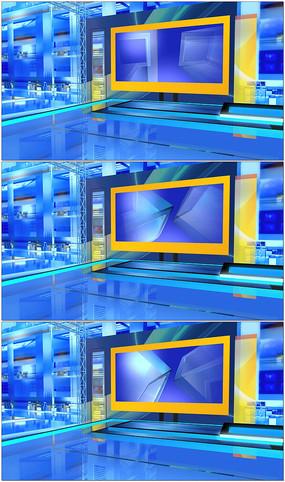 电视新闻演播室视频