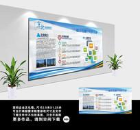 简约大气企业文化宣传栏模板