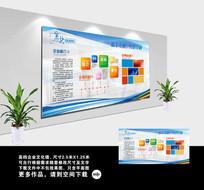 蓝色科技企业文化宣传展板模板