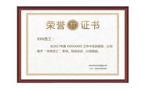 荣誉证书优秀员工奖状模版