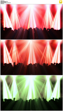 跳动的灯光人影动态视频素材