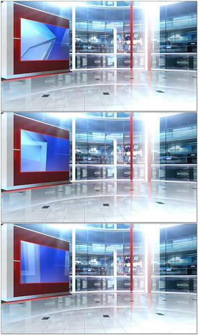 透明背景演播室视频
