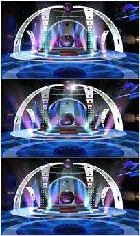 虚拟舞台背景演播室视频