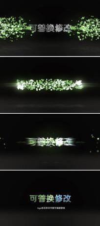 大气粒子光芒logo演绎片头ae模板