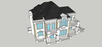 法式住宅别模型