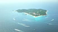 海南三亚市蜈支洲岛潜水旅游胜地实拍素材