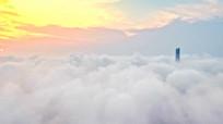 航拍中国片中插播画面视频素材