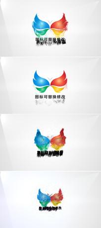 粒子沙尘logo演绎片头ae模板