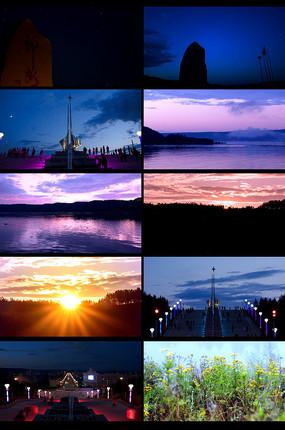 夕陽視頻素材
