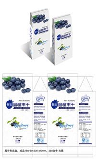 简约清新高端蓝莓水果包装
