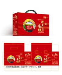 精品喜庆五谷杂粮食品包装设计