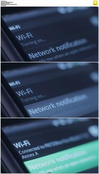 手机连接wifi实拍视频素材