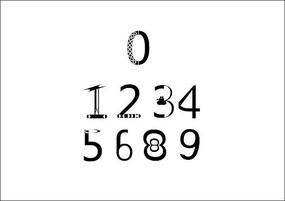 个性数字字体