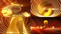 金色环状LOGO演绎模板