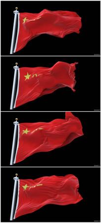 军旗飘扬视频素材