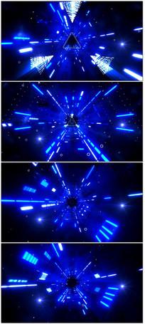 炫酷动感穿梭光效三角音乐空间LED大屏幕