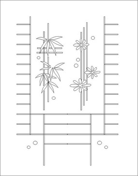 竹葉矢量圖