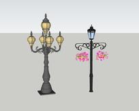 欧式庭院灯具模型