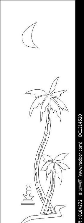 椰子矢量图