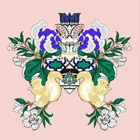 对称抽象动植物欧式纹样图案