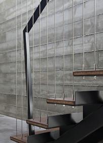 金属吊挂台阶景观意向图