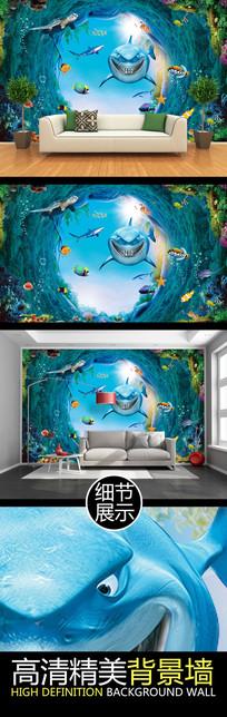 奇幻海底世界电视背景墙