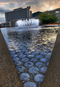 水池喷泉景观意向图