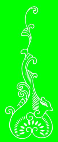 抽象凤凰雕刻图案