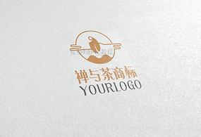 创意禅与茶logo CDR