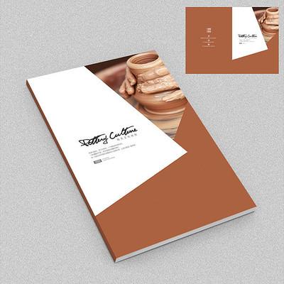 陶艺商业品牌宣传画册封面
