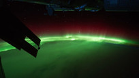 从太空看地球美丽极光集锦视频素材