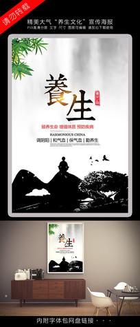 简洁中国风养生文化海报
