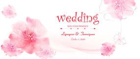 浪漫婚礼背景板