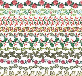 可愛邊框花紋