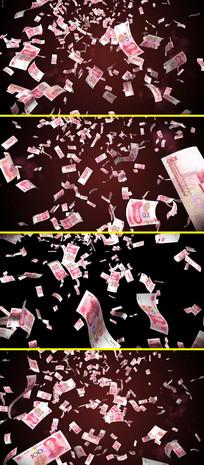 钱币掉落天上掉钱视频