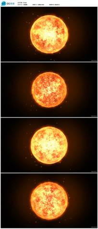 太阳燃烧视频素材