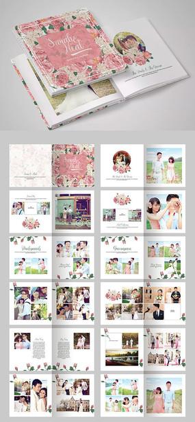 影楼婚纱照相册结婚纪念相册完美恋人画册模板
