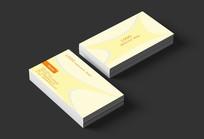 黃色圖形簡約名片設計