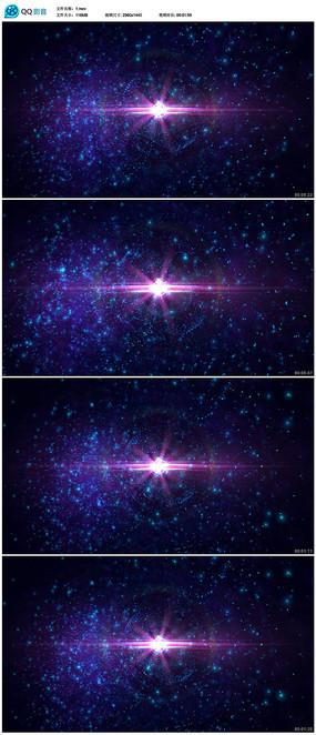 粒子星空視頻素材