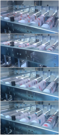 实拍机械化印刷打印机器快速转动