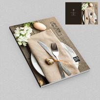 西餐厅餐具餐饮画册封面