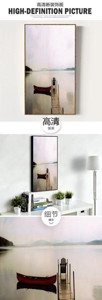 新中式江南水乡唯美时尚简约油画装饰画无框画