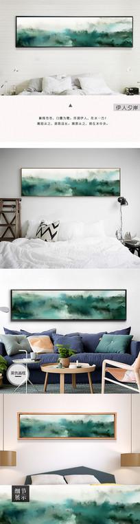 新中式手绘山水森林装饰画