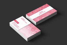 樱花粉红色背景设计名片